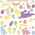 Doodle easter vector collection