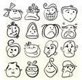 Doodle emotion art