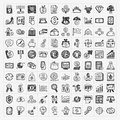 Doodle financial icons Stock Images