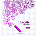 Doodle floral design vector illustration Stock Images
