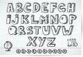 Čmáranice písmo na linajkový list