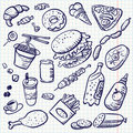 Doodle food Royalty Free Stock Images