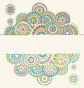 Doodle frame colorful hand drawn Royalty Free Stock Images