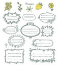 Doodle frames. Stock Photography