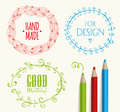 Doodle Frames and design elements. Royalty Free Stock Photo