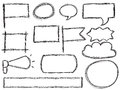 Doodle frames and speech bubbles Royalty Free Stock Photo