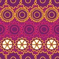 Doodle Gears mechanical seamless vector background repeat pattern bright purples