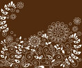 Doodle Henna Flowers Vector Stock Images