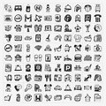 Doodle hotel icons set Royalty Free Stock Photo