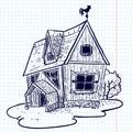 Doodle house Stock Photos