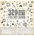 Doodle icons universal set vector Stock Images
