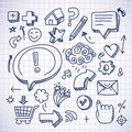 Doodle internet icons Royalty Free Stock Photo