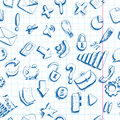 Doodle internet icons seamless background communication Stock Photos