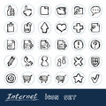 Doodle Internet web icons set Royalty Free Stock Photo