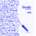 Doodle kid cartoon design sketch Royalty Free Stock Photography