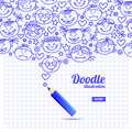 Doodle kid cartoon design vector Stock Photos