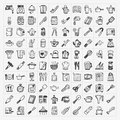 Doodle kitchen icons Royalty Free Stock Photo