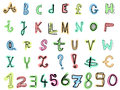 Doodle letters Royalty Free Stock Photos