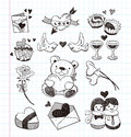 Doodle love icons cartoon vector illustration Stock Photo