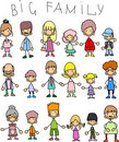 Doodle members of large families,vector Stock Photography