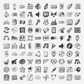 Doodle music icons set cartoon illustration Stock Image