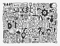 Doodle network element cartoon vector illustration Royalty Free Stock Photography