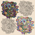 Doodle ornaments. Royalty Free Stock Photo