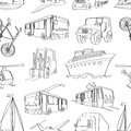 Doodle patern transport vector illustration eps Royalty Free Stock Images