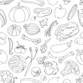 Doodle pattern of vegetables excellent vector illustration eps Royalty Free Stock Photos