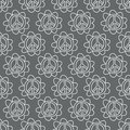 Doodle Peace Sign. Seamless background. Royalty Free Stock Photo