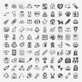 Doodle pet icons set Royalty Free Stock Photography