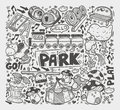 Doodle playground element cartoon illustration Royalty Free Stock Images