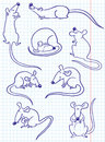 Doodle rat Royalty Free Stock Photos