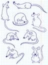 Doodle rat Royalty Free Stock Photo