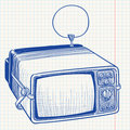 Doodle Retro TV Royalty Free Stock Photos