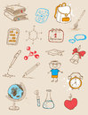 Doodle school icons set of vector doodles Stock Photo