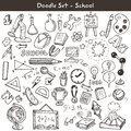 Doodle set school big of icons style vector illustration Royalty Free Stock Photos