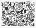 Doodle sieci element Obraz Stock