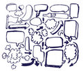 Doodle Sketch Speech Bubble Arrow Royalty Free Stock Photo