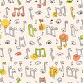 Doodle Song Pattern Royalty Free Stock Photography