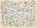 Doodle Spring Time Design Vector Set