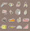 Doodle stationery stickers Stock Images