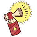 Doodle style air horn illustration vector format Royalty Free Stock Images