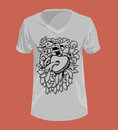 Doodle style and Graphics for T-shirt.