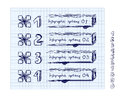 Doodle style number options banner for infographic Royalty Free Stock Photography