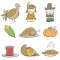 Doodle Thanksgiving Elements Stock Photo