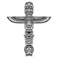 Doodle Totem Illustration Royalty Free Stock Photo