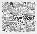 Doodle transport element cartoon vector illustration Royalty Free Stock Image