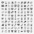 Doodle valentines day icon cartoon vector illustration Royalty Free Stock Images