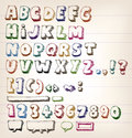 Doodle vintage abc elements illustration of a set of hand drawn sketched and doodled letters and font characters also containing Royalty Free Stock Image